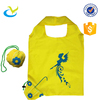 durable 190D polyester nemo fish foldable cute promotional shopping tote bag