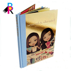 Special Technique Fabric Golden Paper Custom Hardcover Book with Prefect Binding Girl Story Book