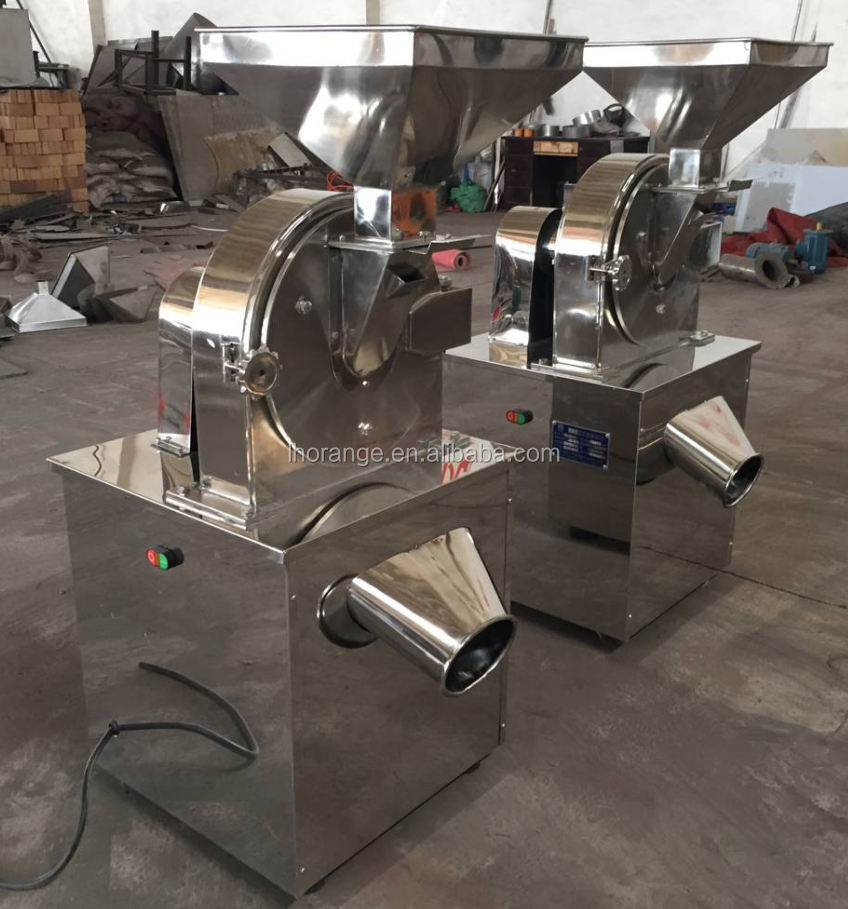 Automatic stainless steel grain grinder machine/ flour making machine/ dry fruit powder crusher machine
