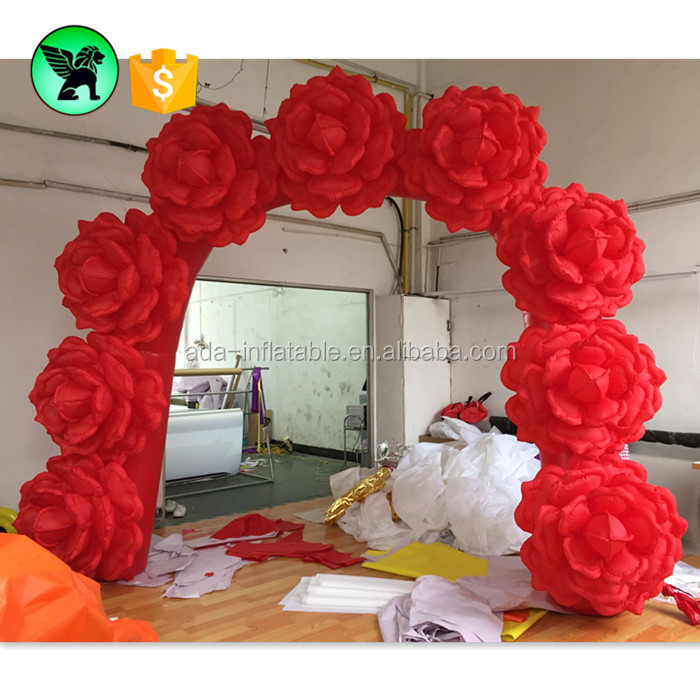 Sincere Lighted Inflatable Gate Flowers Chain For Wedding Decoration Furniture Accessories