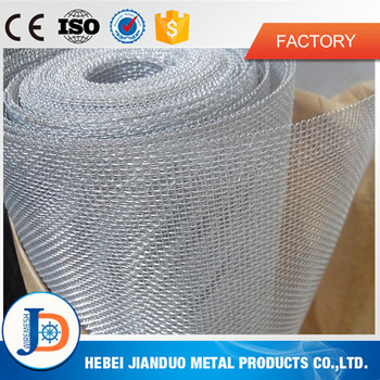 china 18 years factory aluminum wire mesh roll for window screen