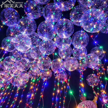 18 Inch transparence flashing Led light balloons
