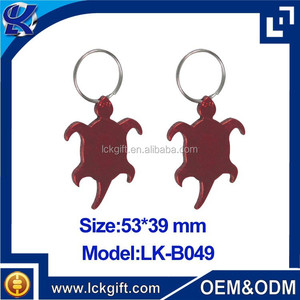 Personalized sea turtles shape blank keyring bottle opener