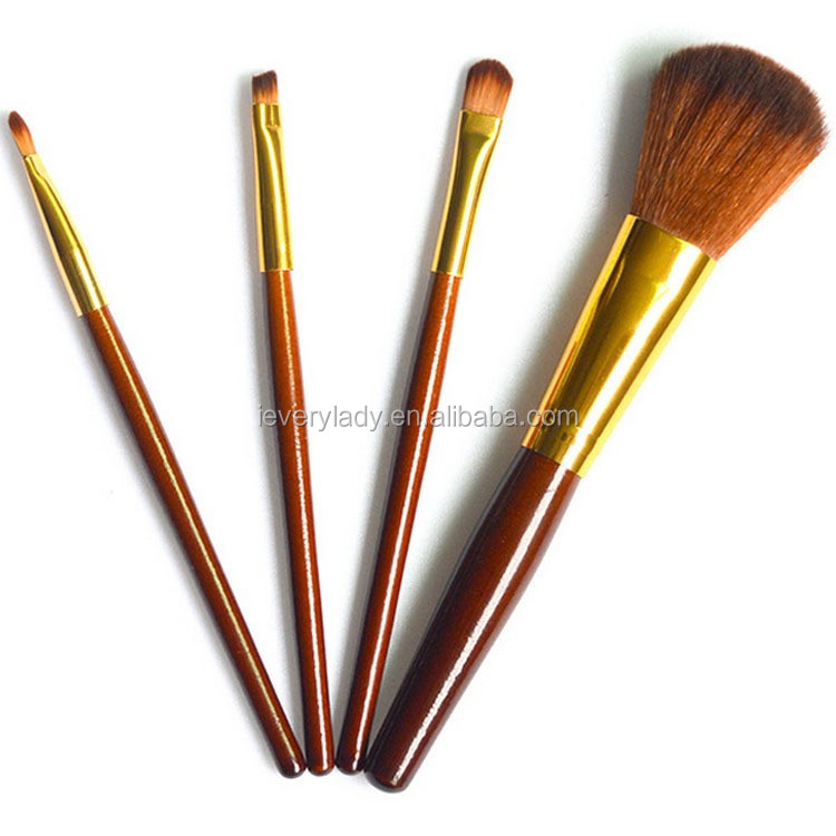 Cheap makeup brushes sets 4pcs brocha de maquillaje cosmetic makeup brush set with PVC brush bag