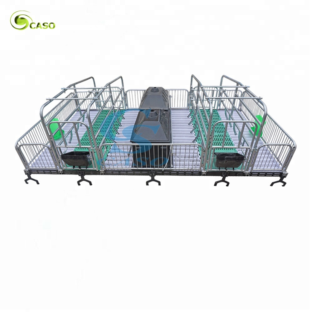 Hot Dip Galvanized Sow Farrowing Breeding Pig Cage
