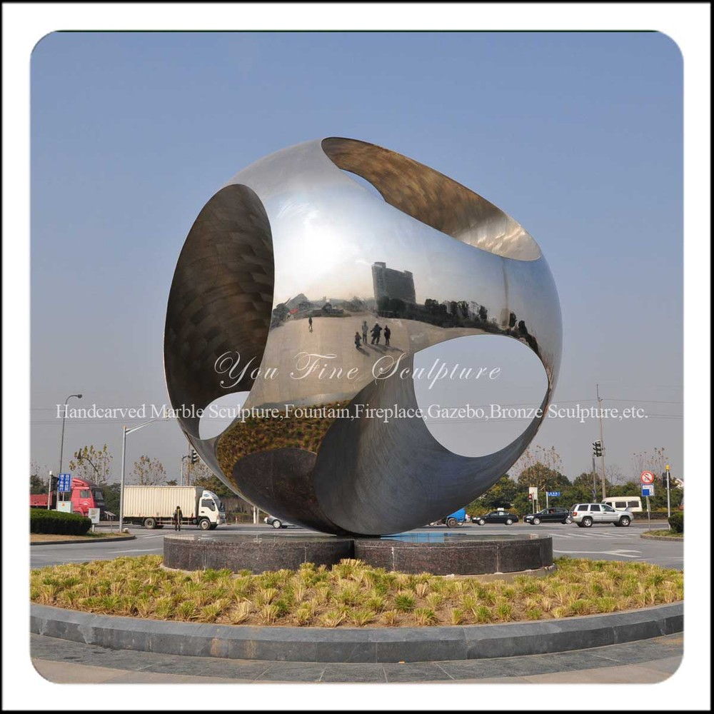 big round stainless steel garden sculpture for sale buy. Black Bedroom Furniture Sets. Home Design Ideas