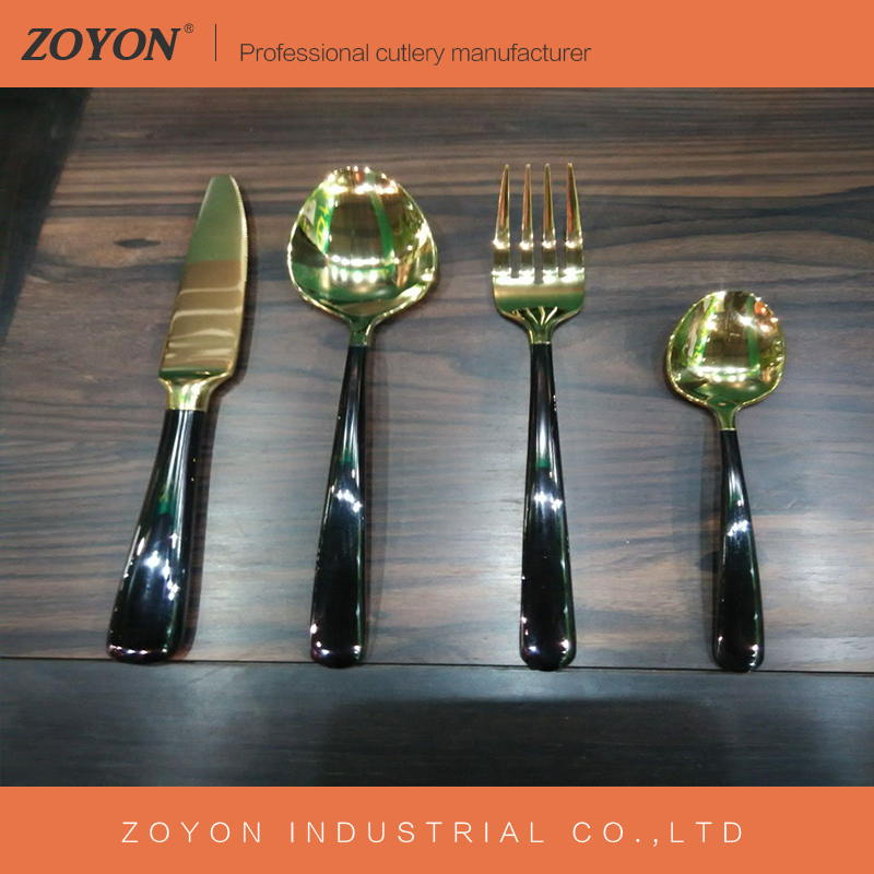 2017 NEW CUTLERY!Golden cutlery for wedding, copper cutlery, wedding rose gold flatware