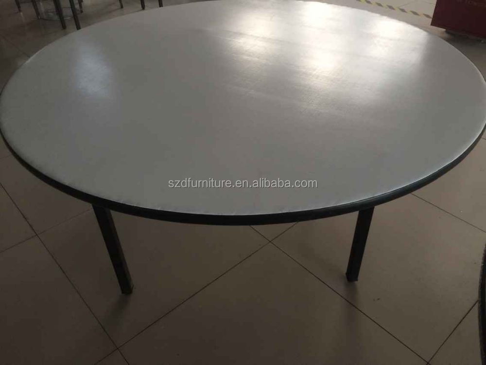 Folding metal rectangular table restaurant table for for Cuisine table retractable
