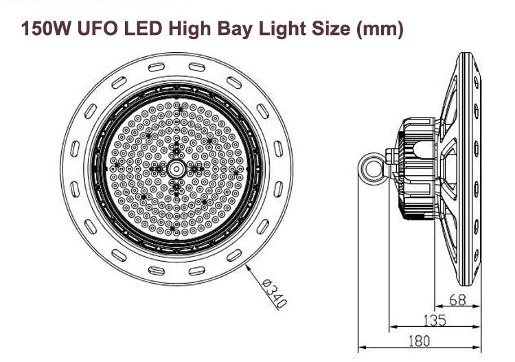 150W UFO size