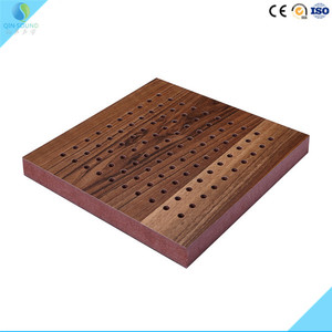 Private Club Project Sound Absorbing Treatment Interior Decorative Sound Absorption Wooden Diffuser For Recording Studio