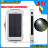 2017 new arrivals high quality waterproof 10000mah portable solar charger for samsung mobile phone