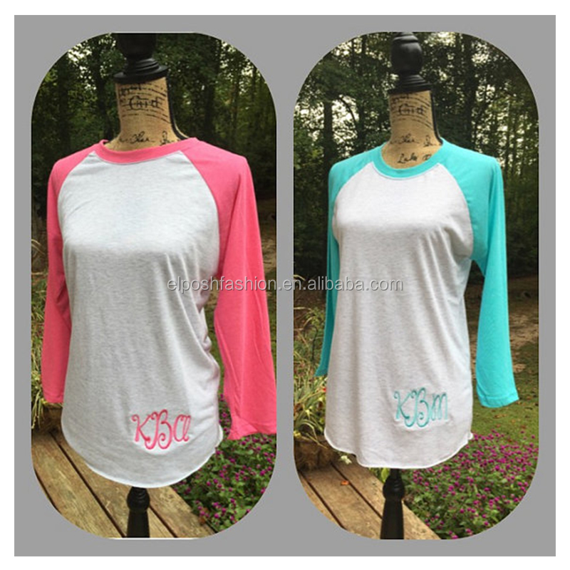 Wholesale Monogrammed Custom Baseball Raglan