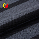 New design Istanbul soft knit stripe brushed heavy fleece velvet flock fabric for garment