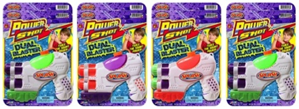 Ja-Ru Splash Power Shot Dual Blaster Water Gun Party Favor Bundle Pack