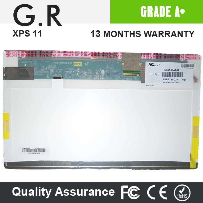 Original New laptop screen 140 LED LTN140AT02 B140XW01 LP140WH1 LP140WH4 TLA1 N140B6