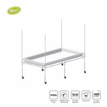 Toolless Assembly 4x4ft / 4x8ft Movable Heavy Duty Steel Flood Grow Tray Stand