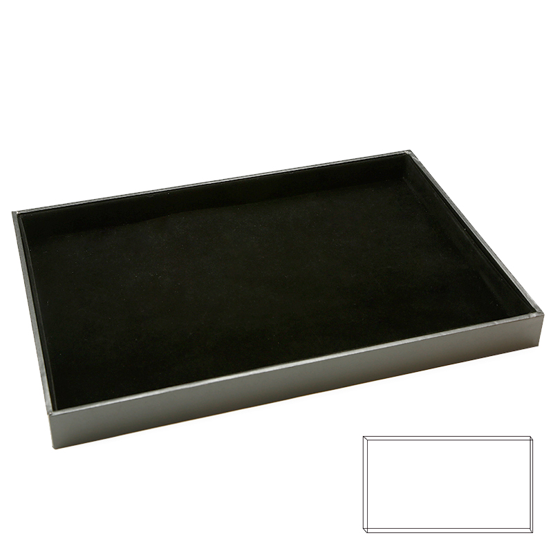 Wholesale Custom Black Velvet Blank Panel Jewelry Display Tray