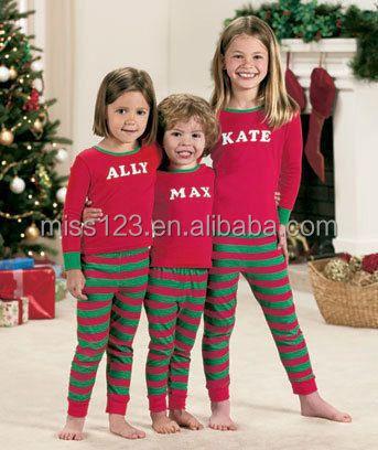 Christmas Family Pajamas Wholesale Organic Cotton Pajamas Sets ...
