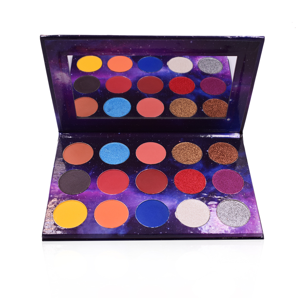 Custom uw merk make kartonnen 15 kleur lege eyeshadow palette private label 50 kleuren