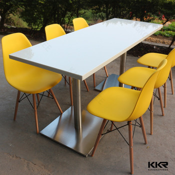 Restaurant Furniture Type And Solid Surface Material Dining Tables Chairs