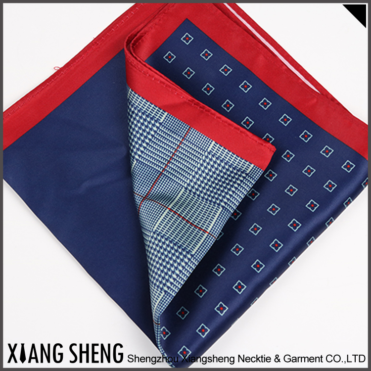 Popular Mens Printed Poly Handkerchief