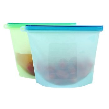 Hot seller Fresh vegetable silicone food bag with zipper fresh vegetable bag