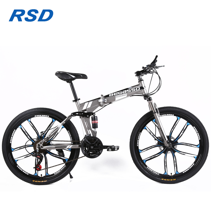 Tianjin factory supply foldable mountain bike/26inch mountain bike full suspension/high quality mtb folding bike for sale cheap