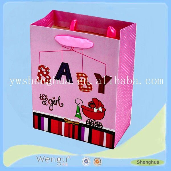 china alibaba unique strong tote shopping paper bag/colorful small rope bag