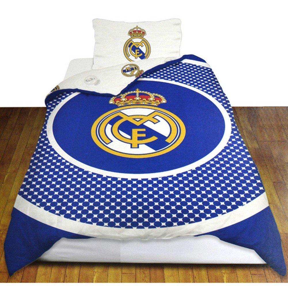 Real Madrid Fc Football Club Soccer Team Reversible Bullseye Single Duvet Set