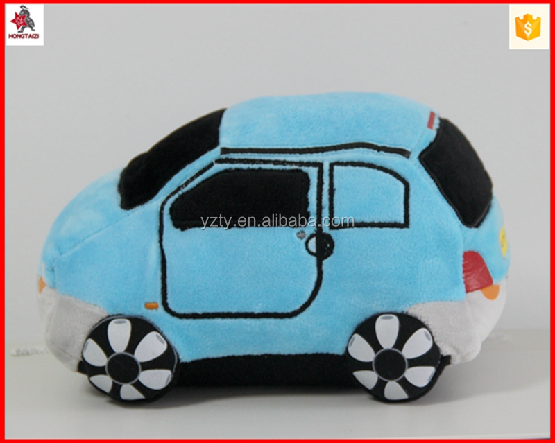 Blue color plush electrical animal toy car