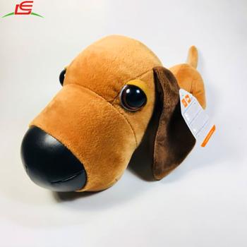 Le a130329005 farcito grande testa di cane cucciolo di peluche con