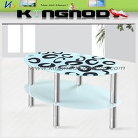 Modern and popular printed glass coffee table