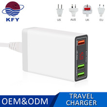 Phone Accessories Travel usb Wall Charger with digital display