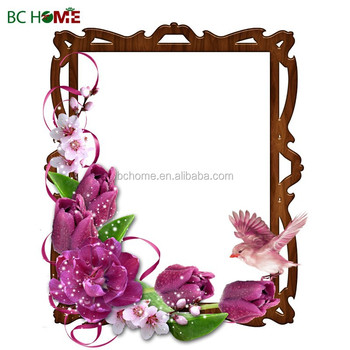 Family Wooden Picture Photo Frames/ Flower Theme Wood Picture Frames ...