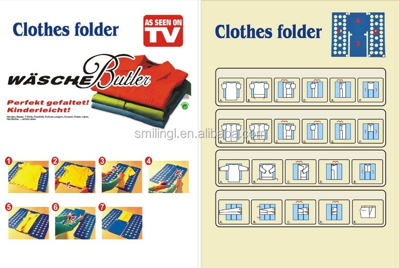 Clothes folding board size