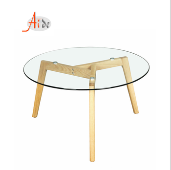 Modern design new hotel luxury tempered glass top center table fair price short leg low industrial coffee table