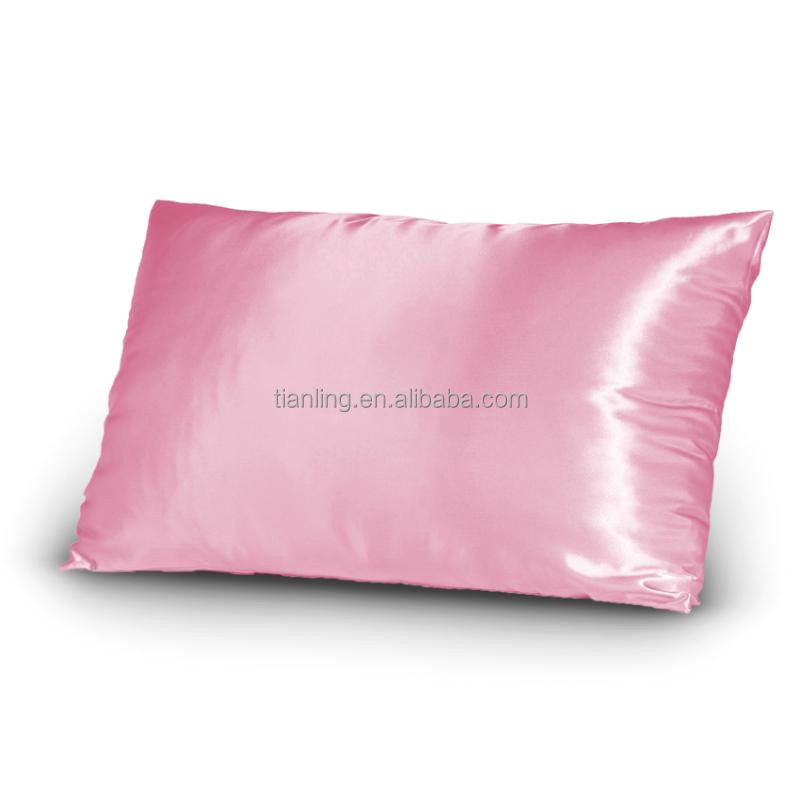 Bright Satin Standard Size Pillow Covers Shams Pillowcases