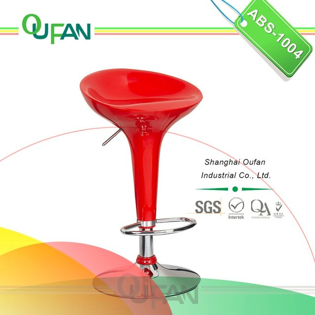 Oufan ABS Bar Stool Red Bar Stool Wholesale ABS-1004