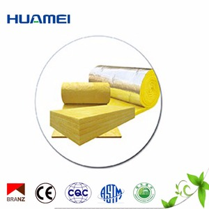 well qualified construction materials Fiberglass insulation with aluminium foil, Soundproof glass wool