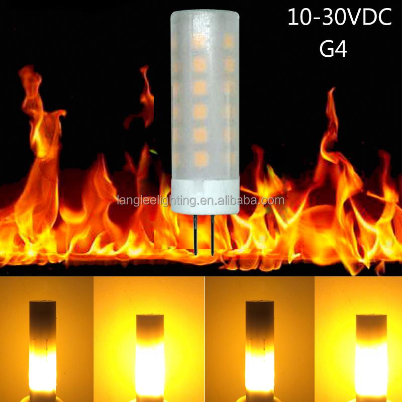 Christmas !! Popular !! New G4 Flame Fire Effect Led Bulb Lamp Dynamic  10-30vdc Flickering Light - Buy G4 Flame Light,Flame Light Bulb,Flickering  Led