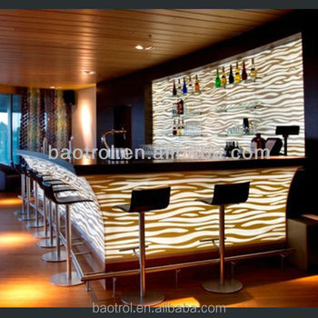 Free Sample For Artificial Stone Beer Bar Counter Night