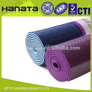 wholesale double color two layer tpe natural rubber exercise gym mat