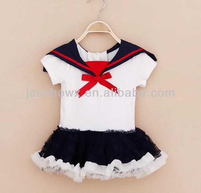 Navy Design Baby Girl Dress,Fashion Design Small Girls Dress
