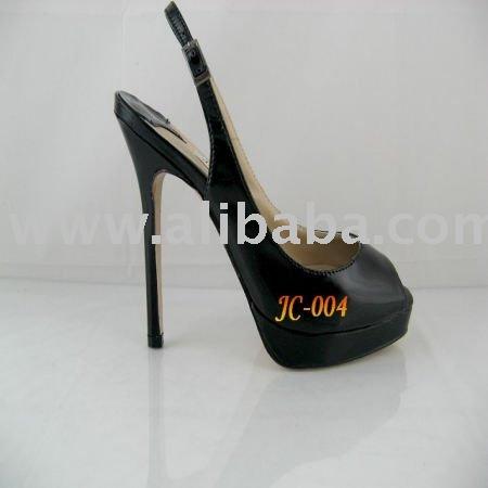 shoes slingback black peep toe leather IvZHTq