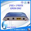 Fast Internet for home network with 10/100/1000Mbps FTTX GPON ONU