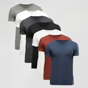 Ring Spun Cotton Fitness Blank T-shirt Mens Custom Design T-shirt