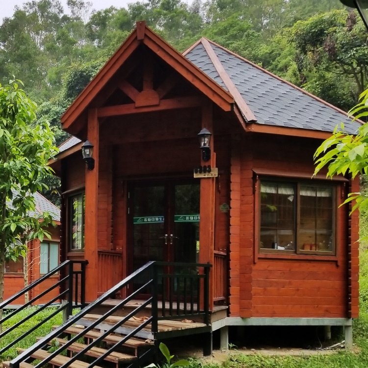 New Style European Octagon Shape Brown Pine Wood Modular Homes Vacation  Villa Prefabricated Houses Wooden Log Cabin - Buy Wooden Cabin,Wooden Log