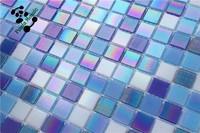 MB SMH20 Cheap Iridescent Mosaic Tile Blue Bathroom Tile Design Vitreous Glass Mosaic Tiles