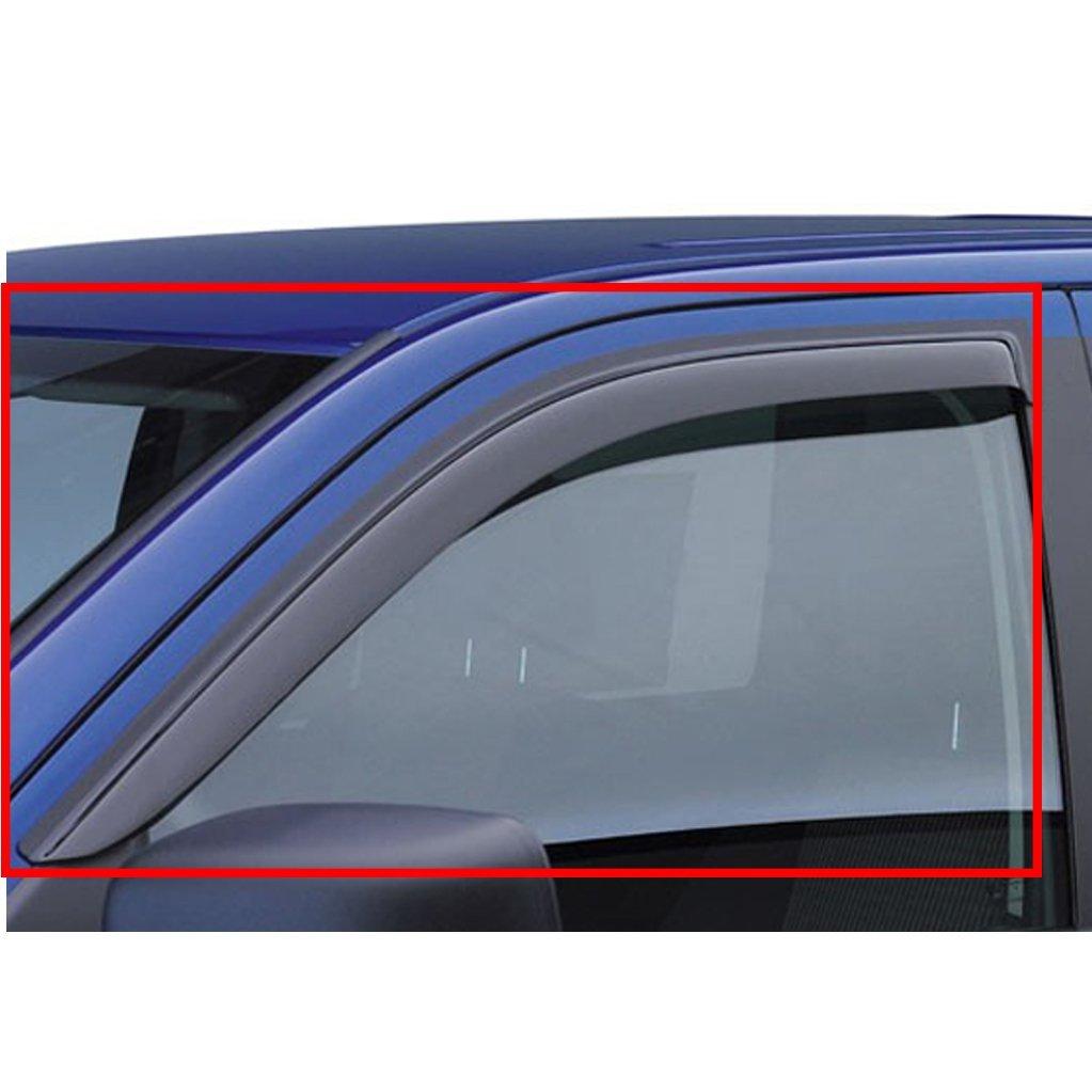 VIOJI 2pcs Front Door Smoke Sun/Rain Guard Vent Shade Window Visors Fit 99-16 Ford F250/F350/F450 Super Duty With Standard Mirror
