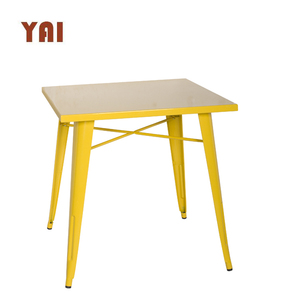 Industrial style dining cafe cheap commercial metal antique square table